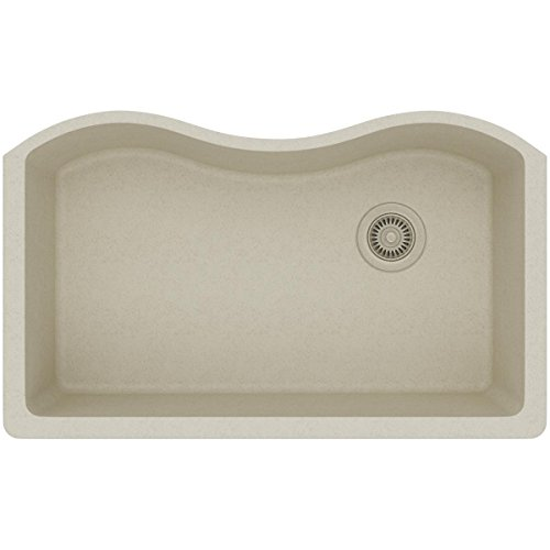Elkay ELGUS3322RBQ0 Quartz Classic Single Bowl Undermount Sink, Bisque