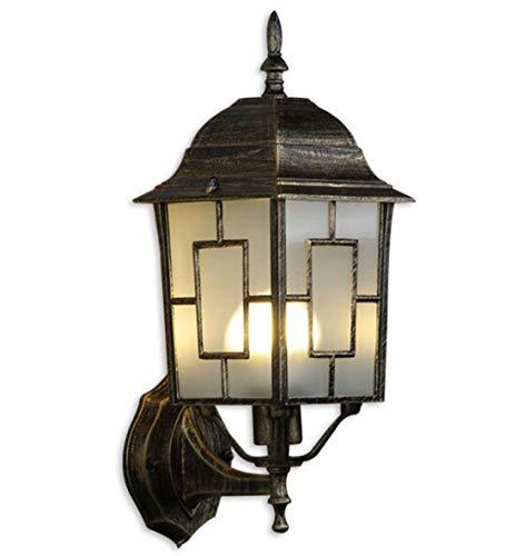 WAMC - Lámpara de pared para exteriores, estilo retro, para terraza, patio, paisaje, iluminación de pasillo