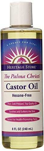 Heritage Store Castor Oil ( 1x8 OZ) by Heritage