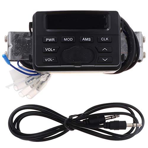 P Prettyia Alarma de Motocicleta Sistema de Sonido de Audio Altavoces Estéreo Radio FM