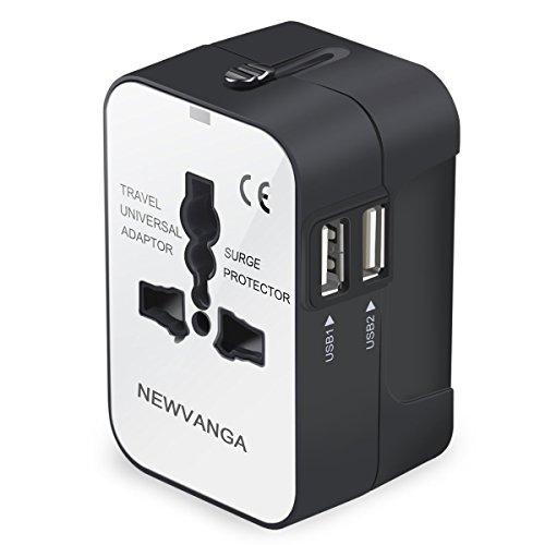 Travel Adapter, Worldwide All in One Universal Travel Adapter Wall Charger AC Power Plug Adapter...
