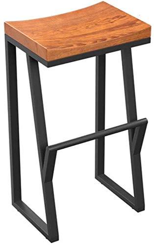 tabouret de bar DBL en Bois Petit déjeuner Polyvalent Hauteur comptoir Robuste Président de la Construction Bois Pub Haut Tabouret Design Fer Assemble Minimaliste