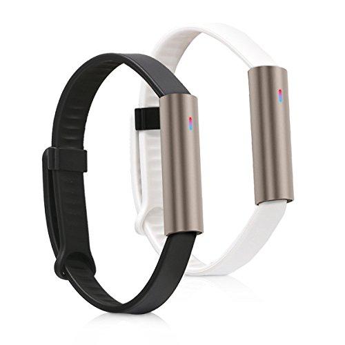kwmobile 2X Sportarmband kompatibel mit Misfit Ray - Armband Fitnesstracker aus TPU und Silikon