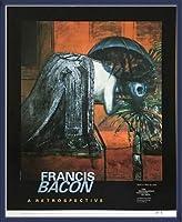 ポスター フランシス ベーコン Figure Study Ⅱ 額装品 ウッドベーシックフレーム(ブルー)
