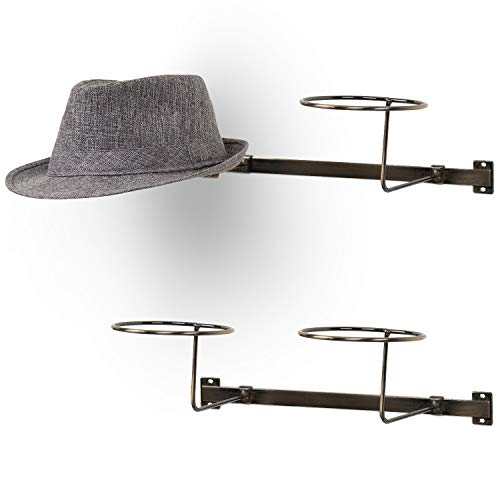MyGift Modern Style Antique Copper Metal Wire Wall Mounted Hat Racks, Set of 2