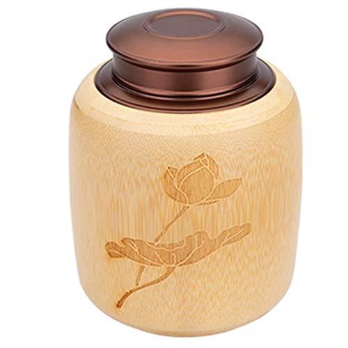 JCSW Vorratsdosen Bambus mit Deckel Luftdicht, Kaffeedose Aufbewahrungsbox Küche Vorratsdosen, Frischhaltedosen Gewürzgläser BPA Frei für Aufbewahrung Küche, 700ml, TYU112UYT