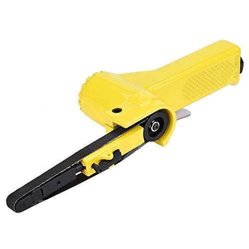 FTVOGUE 330 * 10mm / 520 * 20mm Luft Pneumatische Bandschleifer Polierer Schleifmaschine Werkzeug mit 2 Sandbändern(330 * 10mm)