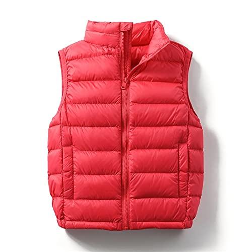 stores Chaleco cálido de Chaleco con Cremallera, Chaleco Acolchado, con Cremallera con Cremallera sin Mangas, cálido y Acolchado, cálido (Color : Red, tamaño : 150CM)