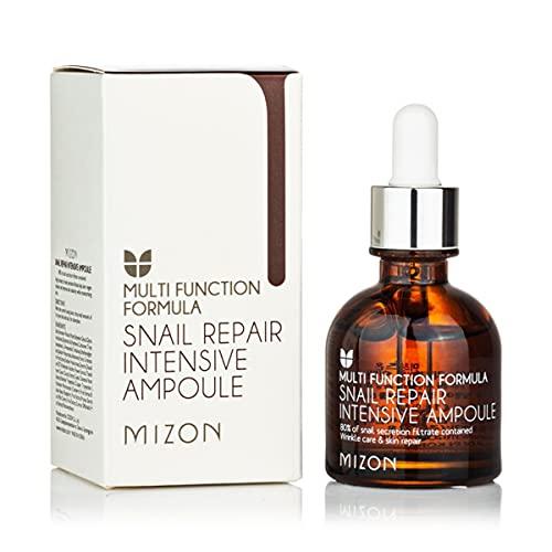 [Mizon] Schnecke Reparatur Ampulle (30ml) Gesichtsserum mit 80% Schneckenschleim Extrakt; Serum mit Hyaluronsäure, Koreanische Hautpflege {Snail Repair Intensive Ampoule}