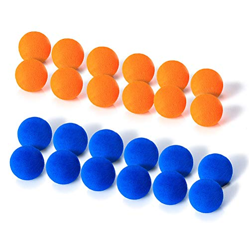 X TOYZ EVA Foam Balls for Popper Air Blaster Toy Guns , 24 Pack 1.1inch Replacement Bullet Balls for...