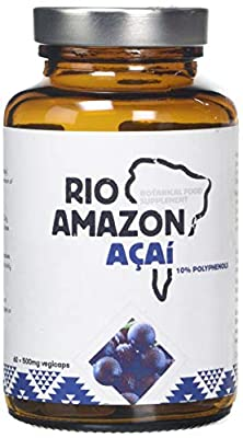 Rio Amazon 500mg Acai - Pack of 60 Vegetarian Capsules by Queenswood Natural Foods Ltd