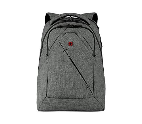 Wenger 605296 Move UP 16' Backpack, Padded Laptop Compartment with Essentials Organizer in Grey {22 litres}