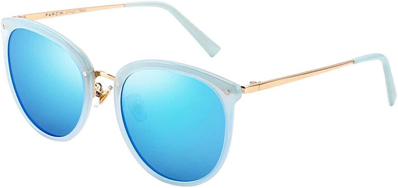 Sunglasses, Men's and Women's Retro Round Large Frame Polarized Sunshade UV Predection Sunglasses