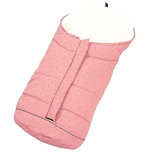 Sacco a pelo Termico Neonati Universale per Passeggino Anti Vento impermeabile con 3 cerniere per bambini (rosa)