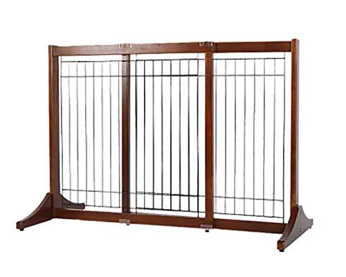 Mesh pet gate retractable Retractable Baby Gate Wide Safety Mesh Gate |pet Gate Tall|pet Gates For Stairs, Doorway Stairs Kitchen-wood, Width 29-74IN Adjustable (Size : Medium)