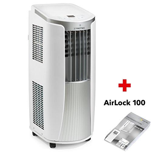 TROTEC Lokales mobiles Klimagerät Klimaanlage PAC 2610 E mit 2.6 kW / 9.000 Btu (EEK: A) 3-in-1-Klimaanlage: Kühlung, Ventilation, Entfeuchtung/Inkl. Fensterabdichtung AirLock 100