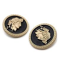 ボタン スーツのDiyアクセサリーの装飾のための衣服手動ボタンの服装のボタンのための10pcs /ロットミシン (Color : 2, Size : 25MM)