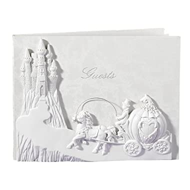 Darice HH29317 White Guest Book, Once Upon A Time Theme