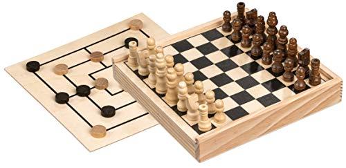 Philos 3094 - Schach-Mühle-Kombination, Mini, Reisespiel, Kompaktspiel