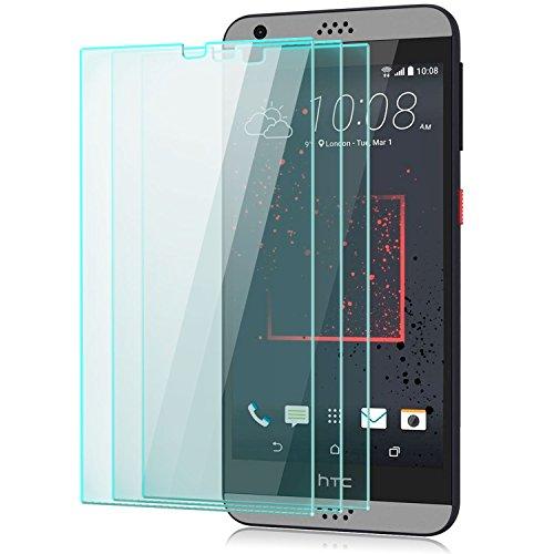Saxonia 3 Stück Bildschirmschutz Folie kompatibel mit HTC Desire 530 Bildschirmschutzfolie aus gehärtetem Glas Schutzglas Glasfolie Schutzfolie   HD Klar Transparent