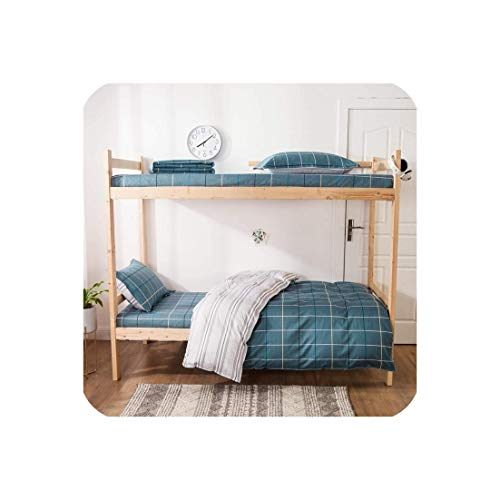 ZMHVOL Conjuntos de Ropa de Cama 100% algodón Breve Azul 3PCS Estudiantes Dormitorio Flat Sheet Edredones Cubierta WANGHN (Color : 4, Size : 1m(3.3inch) Bed)