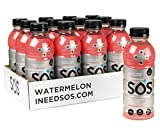 SOS Hydration Lifestyle, Electrolyte and Vitamin Drink, Watermelon Flavor Beverage, 16.9 Fl Ounce...