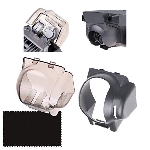 drone con telecamera dji mavic CamKix Parasole (grigio) + 2in1 Blocco Bilanciere e Proteggi Telecamera (grigio trasparente) Compatible con DJI Mavic Pro/Platinum - Blocca la Posizione dei Bilancieri - Protegge la Telecamera