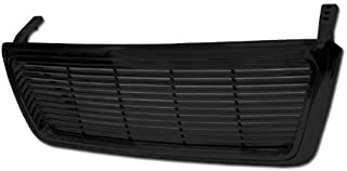 BLACK HORIZONTAL BILLET FRONT HOOD BUMPER GRILL GRILLE COVER ABS 04-08 FORD F150