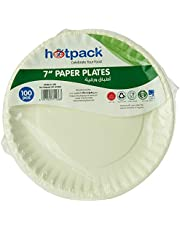 HOTPACK Paper Plate 7 Inch, 100 Pieces, 100 Units