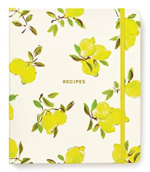 Kate Spade New York Recipe Book with 7 Tabbed Sections and Recipe Card Sleeves Recipe Organizer Includes Notes Pages and Blank Recipe Pages Lemon