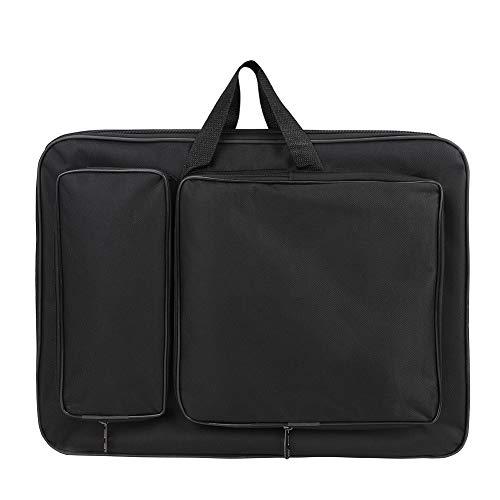 Itoda - Bolsa para láminas de dibujo A3 - Bandolera portátil - Impermeable - Bolsa organizadora - Ideal para estudiantes (adultos y niños) Negro