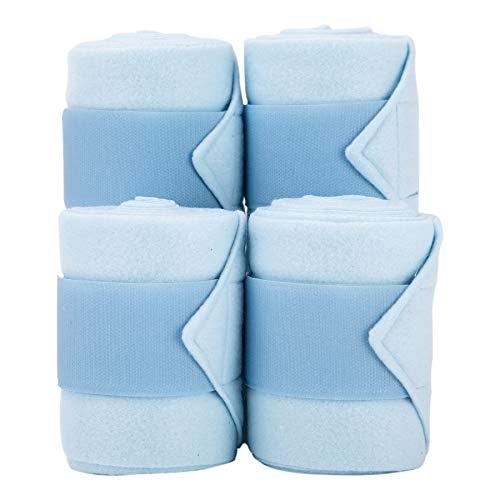 Merauno Polar Fleece Bandagen Fleece Dressage PoloTrainingsverband Satz von 4 2 Farben Wahl Black & Blue (Blue)