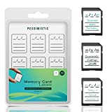Pessimistic – Etiquetas Adhesivas para Tarjeta SD, Pegatinas SD, Accesorio Tarjetas De Memoria, SD Card, Etiquetas Compact Flash Card, Pegatina Tarjeta XQD, Accesorios Fotografía, 45 Uds