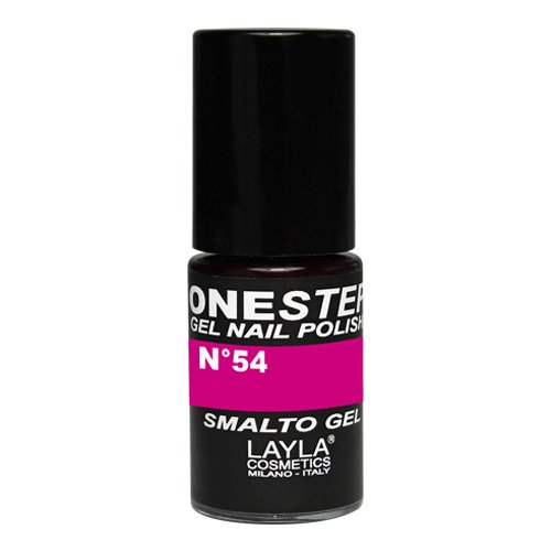 Layla Cosmetics–One Step Gel Smalto, Kiss My Magenta, 1er Pack (1x 5ml)