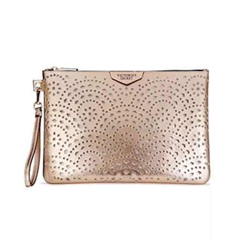 Victoria's Secret Laser Cut Beauty Pouch Bag - Rose Gold - NWT