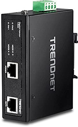 TRENDnet Hardened Industrial Gigabit PoE+ Injector, DIN-Rail, Wall Mount, IP30 (TI-IG30) [並行輸入品]