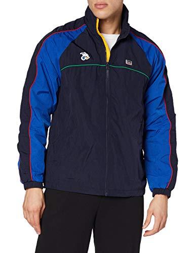 Levi's Mens Miles CB Track Jacket, Caviar/Blue, M Tall