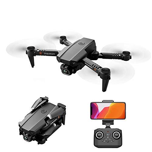 J-Love Drone Plegable con cámara 4K Duble para Adultos, HD FPV Live Video Tap Fly Control Gestos Selfie, AltituHold Modo sin Cabeza Volteos 3D, RC Quadcopter para niños Principiantes