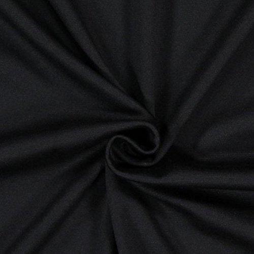 Fabulous Fabrics Romanit Jersey schwarz – Weicher Jersey Stoff zum Nähen von Kleider, Leggings, Shirts & Tuniken - Meterware ab 0,5m