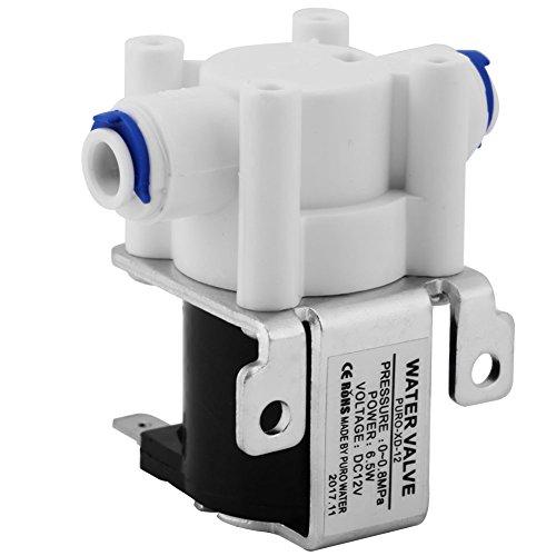 SANON Válvula Magnética Normalmente Cerrada 1Pc Dc 12V 1/4 Agua Electroválvula Purificadora...