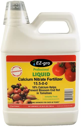 Calcium Nitrate by EZ-gro has 18% Calcium in Our Calcium Nitrate Fertilizer   Just What You Need to Stop Blossom End Rot in Tomatoes   A Favorite in Hydroponic Nutrients as a Calcium Fertilizer