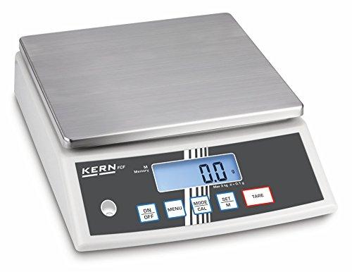 Kern FCF 30K-3 - Kompakte Tischwaage, Wägebereich [Max]: 30 kg, Ablesbarkeit [d]: 1 g, Kleinstes Teilegewicht [Zählen] g/Stück: 2 g