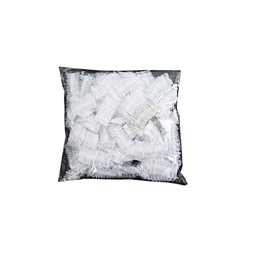 YOFASEN 100 Pièces Plastique Jetables Protecteur Oreille Couvre pour les Oreilles Transparente Imperméable élastique de Couverture Cache-oreilles