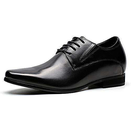 Faretti Elevator Shoes +8 cm Aufzug Anzug Lederschuhe Anzugschuhe Herren Business Leder Schuhe Größer Machen mit Versteckte Absatz Schuheinlagen Schuh Erhöhung Lift Schuhe Rossi I 44
