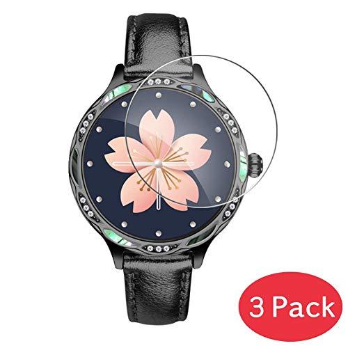 Vaxson 3 Stück 9H Panzerglasfolie kompatibel mit Smartwatch smart Watch M9 Panzerglas Schutzfolie Displayschutzfolie Bildschirmschutz Intelligente Uhr Armband Smartwatch
