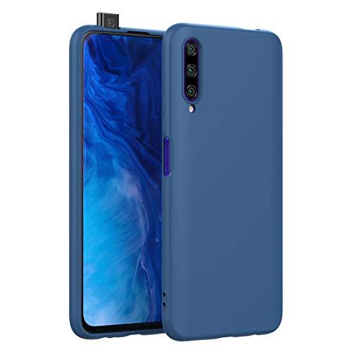 CRESEE für Huawei P Smart Pro/Honor 9X Pro Hülle Hülle, Silikon Handyhülle mit Faser-Futter Anti-Scratch Dünn Schutzhülle Stoßfest Fall für P Smart Pro/Honor 9X Pro (Blau)