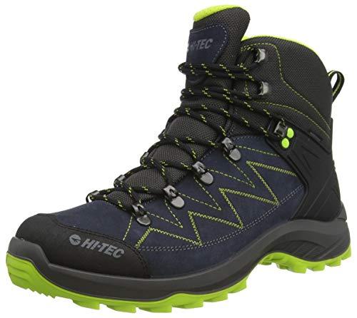 Hi-Tec SPORTHIKE Mid WP, Zapatillas para Caminar Hombre, Gris/Verde Lima, 43 EU