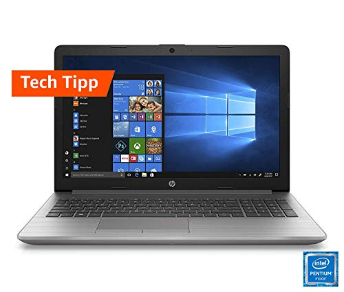 HP 250 G7 (15,6 Zoll / HD) Business Laptop (Intel Pentium 4417U, 8GB DDR4 RAM, 1TB HDD, 128GB SSD, Intel HD Grafik 610, Windows 10 Home) Silber