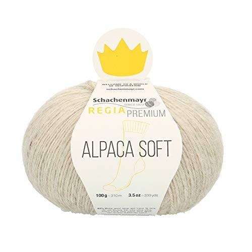 Regia Premium Alpaca Soft Wool 9801631-00002, color: natur, presentación: 100g, Hilos para tejer a mano