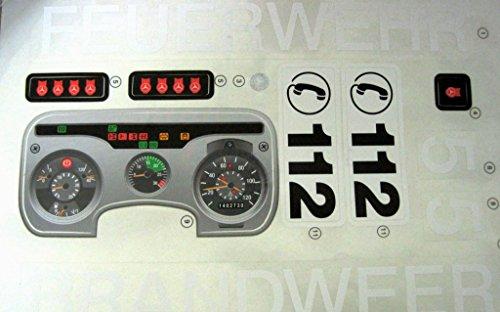 Rolly Toys Aufkleber Sticker Set Feuerwehr Unimog